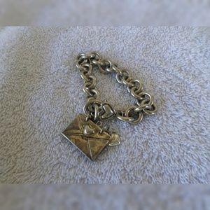 Jewelry - Silver tone chain bracelet with charm